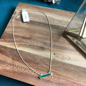 Kendra Scott emerald colored gem stone necklace